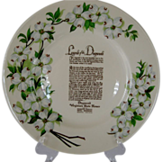 "Syracuse China ""Legend of Dogwood"" Plate"