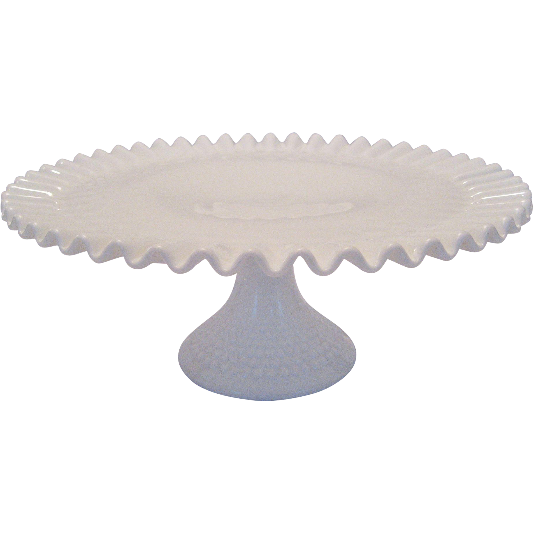 Footed Cake Plate White