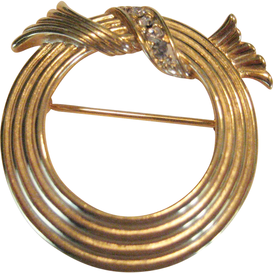 Avon Gold-tone Circle Pin