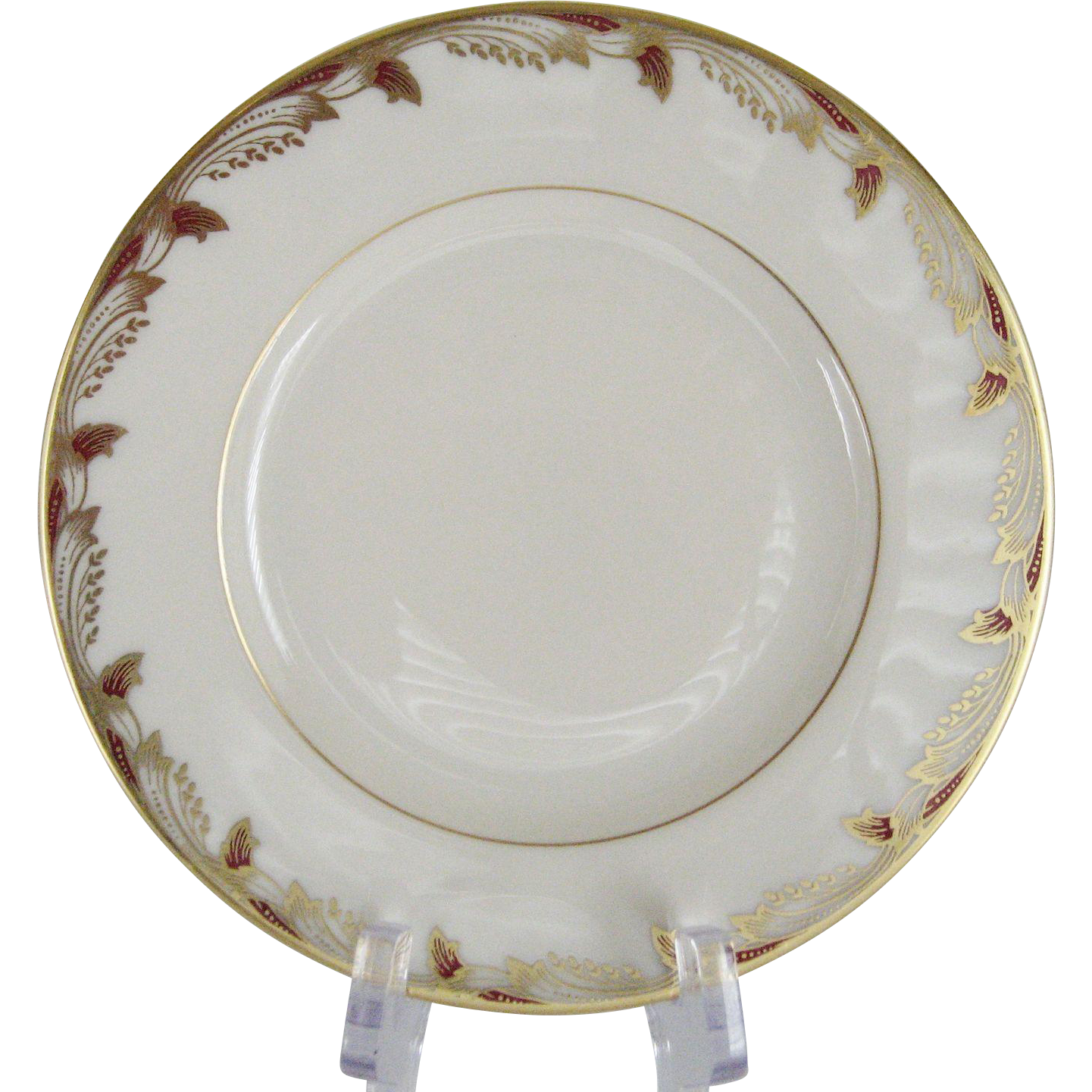 Lenox Essex Maroon Smooth Bread and Butter Plates - 12 Available