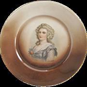 "Empire Bavaria Z.S.&Co. ""Hortense"" Portrait Plate"