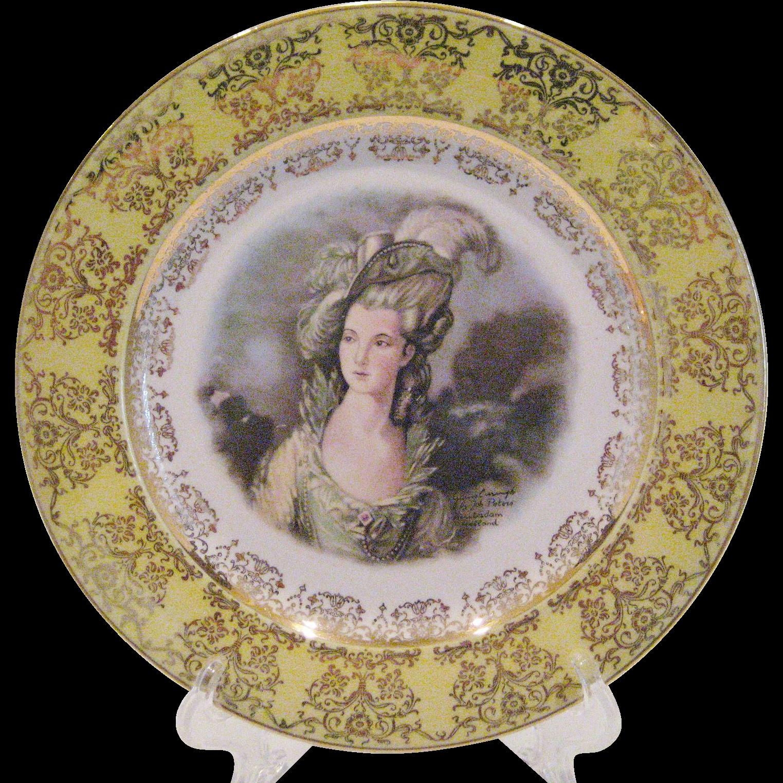 Gainsborough Joh Peters Portrait Plate