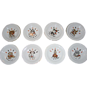 Set of 8 Ardalt Japan Poker Coasters/Ashtrays