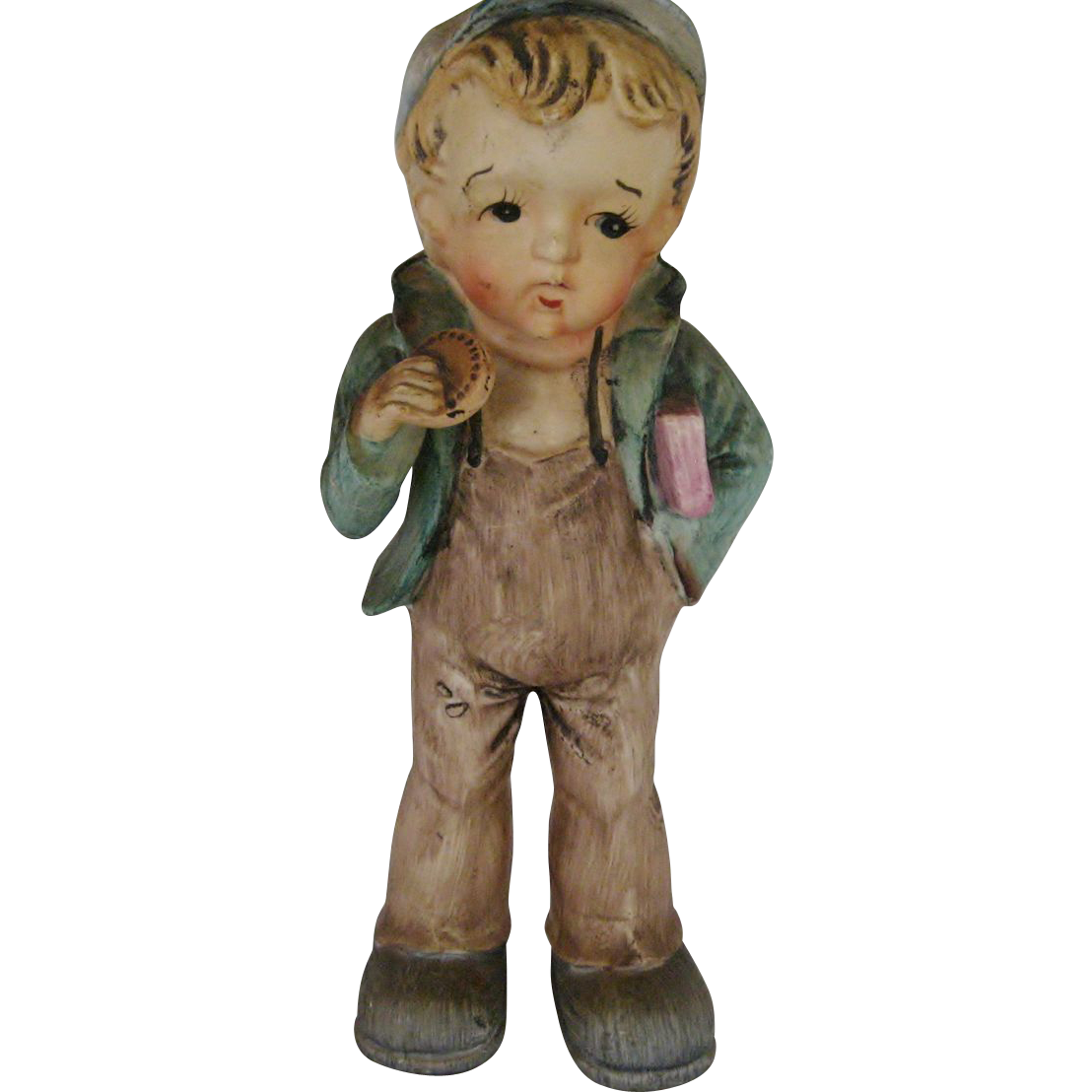 Large School Boy Figurine - Made In Japan