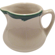 Buffalo China Crest Green Restaurant Ware Creamer