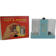 Set of Push Button Salt and Pepper Shakers In Original Box