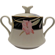 Mikasa Charisma Black Covered Sugar Bowl