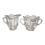 Duncan Miller Clear Canterbury Creamer and Sugar