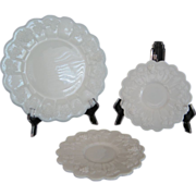 3 Westmoreland Paneled Grape Plates