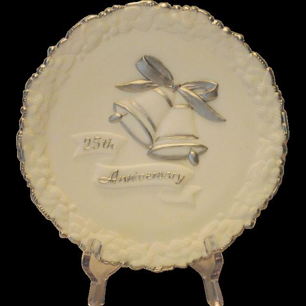 Fenton Art Glass 25th Anniversary Plate
