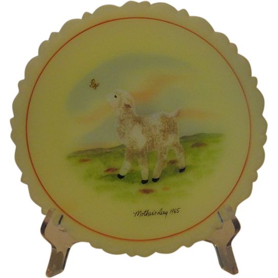 Fenton Art Glass 1985 Mother's Day Plate