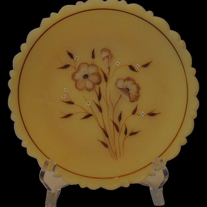 Fenton Art Glass Wildflower on Cameo Plate