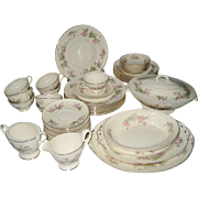"55 Pc. Set Homer Laughlin ""Heather Rose"" China - Service For 8"