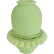 Fenton Lime Sherbet Satin Persian Medallion 3 Pc. Fairy Light