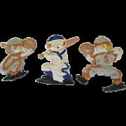 Set of 3 Sexton Baseball Player Plaques