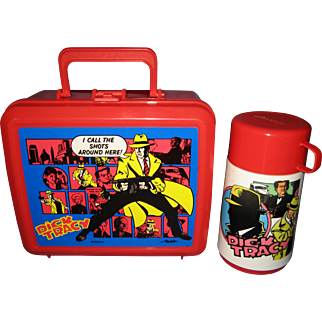 Disney Aladdin Dick Tracy Lunch Box and Thermos - 1990's