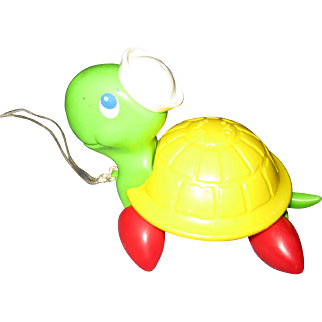 Fisher Price Turtle Pull Toy - 1977