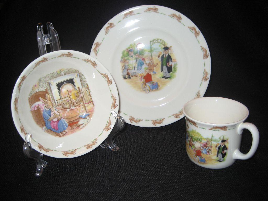 "3 Piece Set Of Royal Doulton ""Bunnykins"""