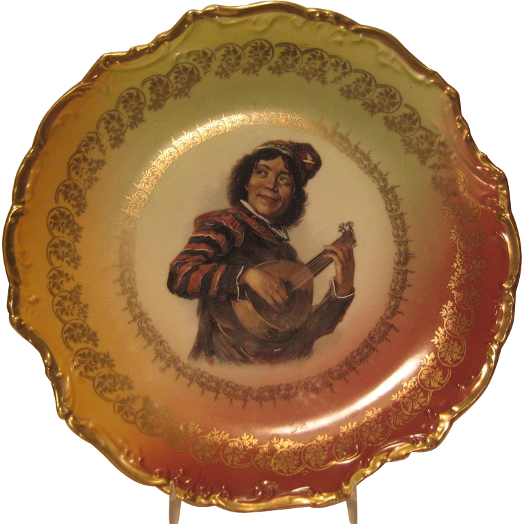 German Minstrel Plate