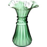 Fenton Heritage Green Wheat Vase