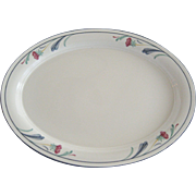 "Lenox ""Poppies on Blue"" Platter"