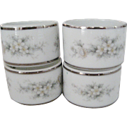 Set of 4 Noritake Napkin Rings - Melissa