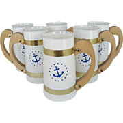 "Set of 6 Siesta ""Anchor"" Mugs"