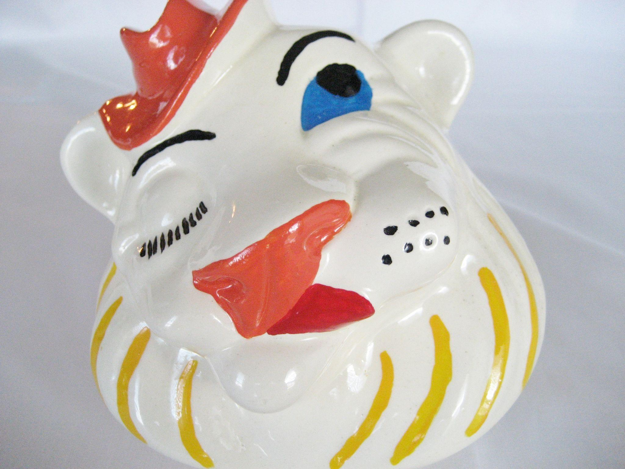 Winking Lion Cookie Jar Belmont Pottery From