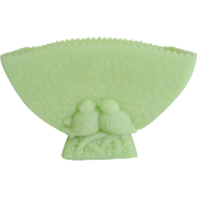 Fenton Lime Green Satin Lovebird Planter