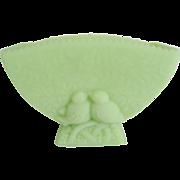 Fenton Lime Green Satin Lovebird Planter