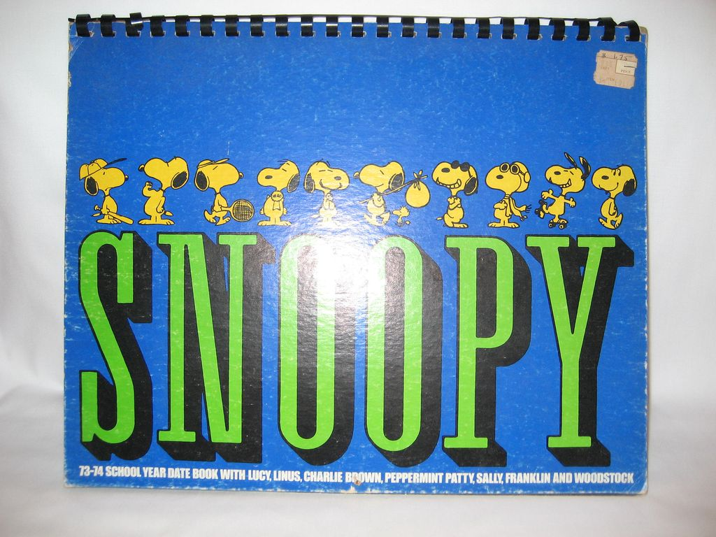Snoopy 1973-1974 School Year Date Book