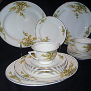 13 Pieces Edwin M. Knowles China - 1937