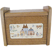 International Heartland Wooden Recipe Box