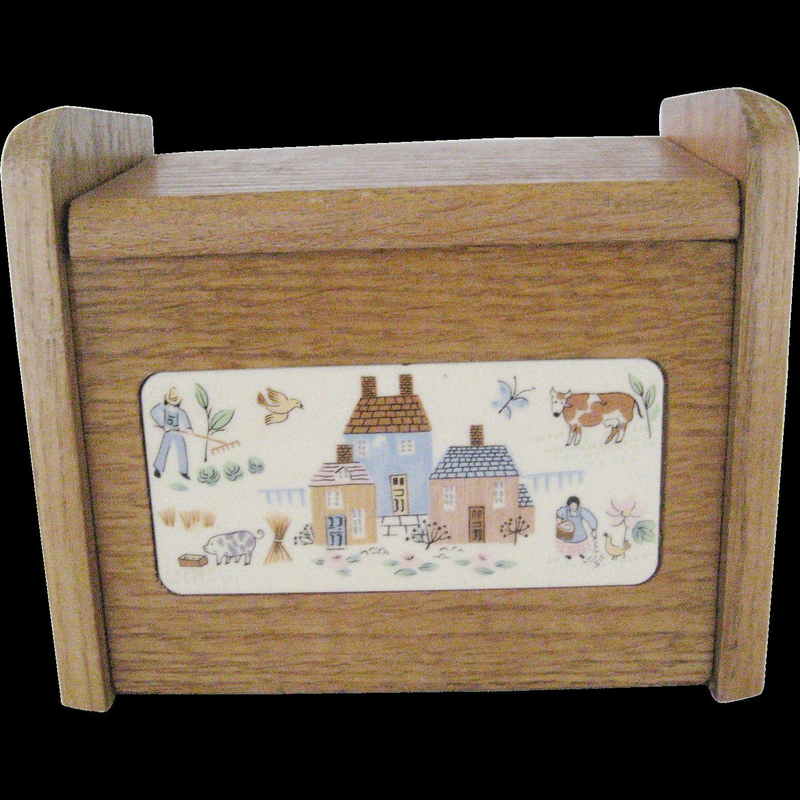 International Heartland Wooden Recipe Box