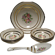 8 Pc. Royal China/Paden City Berry Bowl Set with Spoon