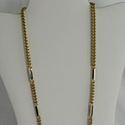 Goldtone and Black Chain Necklace - Korea