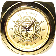 Rochester University Desk Clock Cube