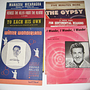 8 Vintage Sheet Musics - 1940's