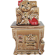 Gingerbread Man Stove Shaped Cookie Jar - Japan