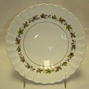 J & G Meakin Soup Bowls - Classic White Grape Pattern