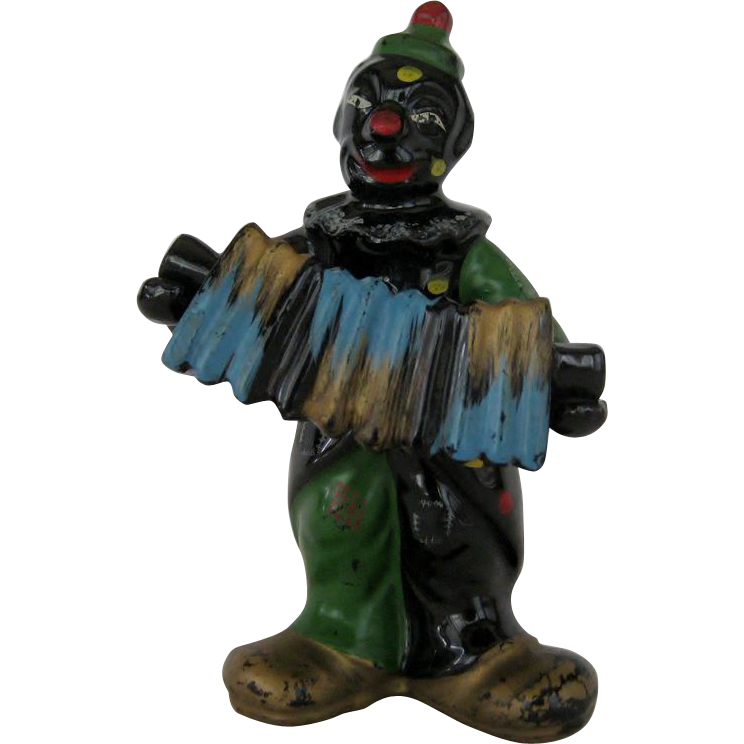 Black Clown Salt and Pepper Shakers