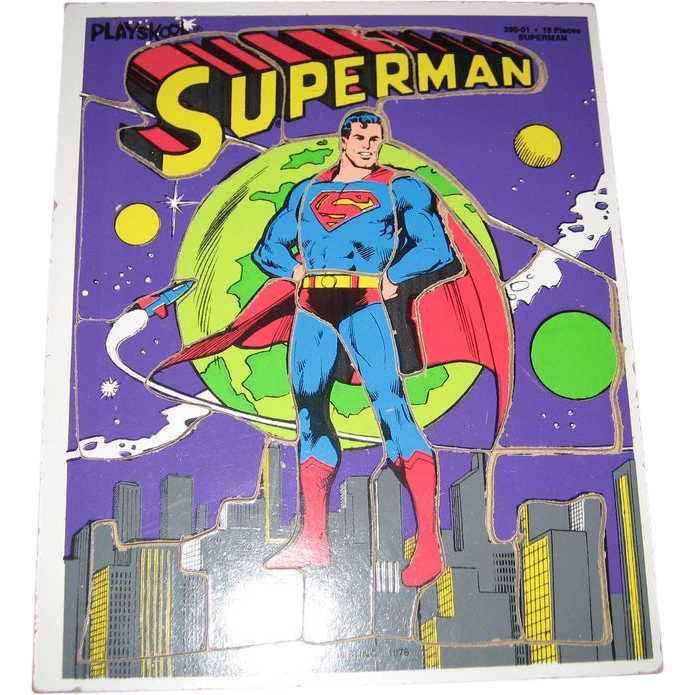 Playskool 18 Piece Superman Puzzle - 1976