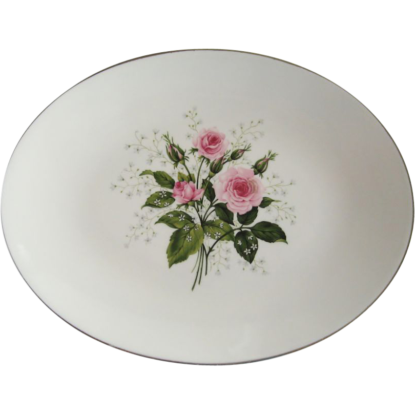 "Royal China Queen's Rose 13"" Platter - 2 Available"
