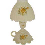 Fenton Daisies on Cameo 3 Piece Candle Lamp