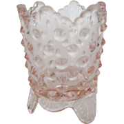 Fenton Pink or Rose Colored Hobnail Toothpick Holder