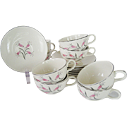 Set of 7 Cups and 8 Saucers - Homer Laughlin Bess Myerson Big Pay-Off