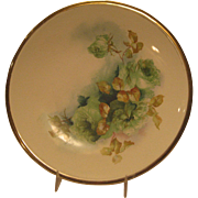 La Francaise Porcelain China Floral Plate - Hand Painted