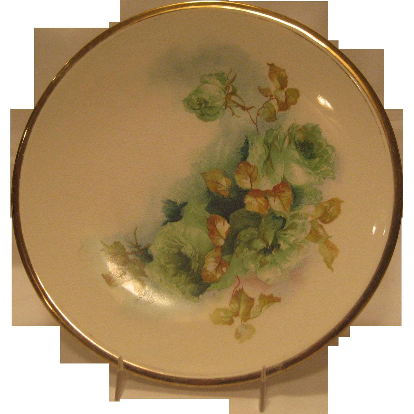 La Francaise Porcelain China Floral Plate - Hand Painted
