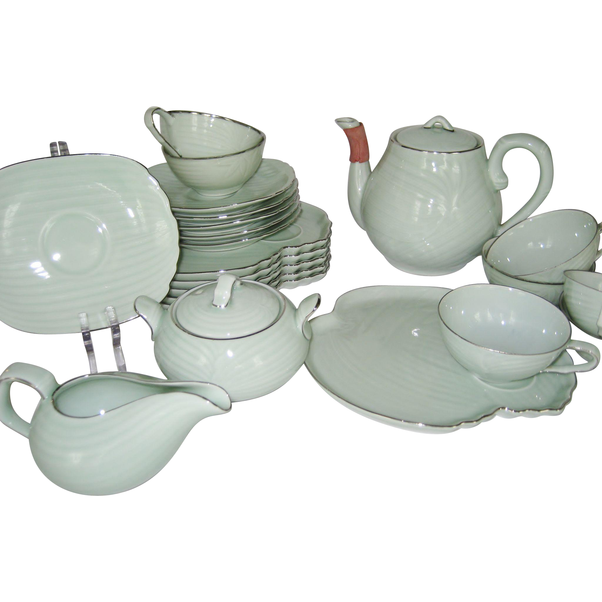 Seyei China Snack or Tea Set