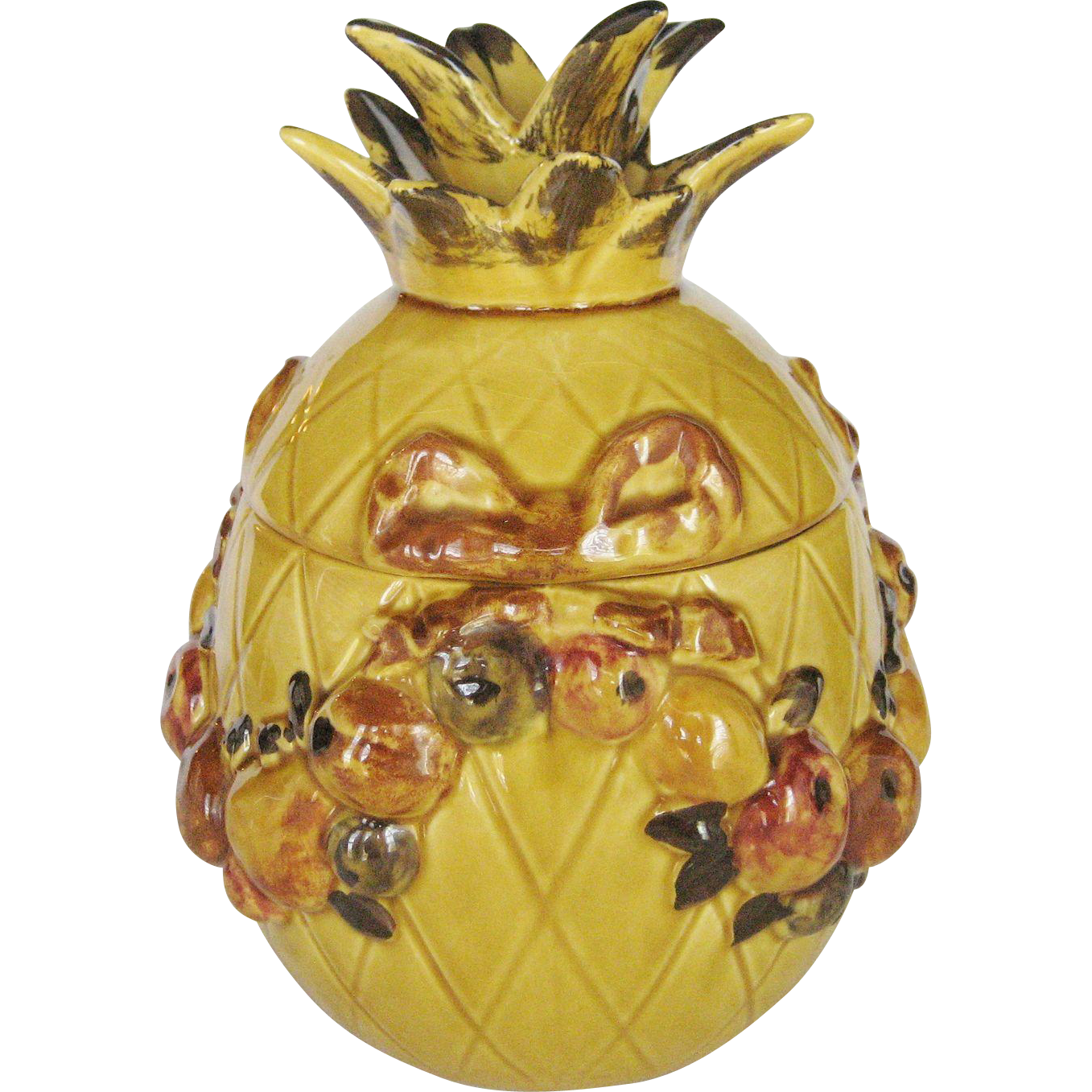 Los Angeles Pottery Pineapple Cookie Jar From